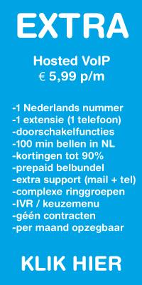 Hosted VoIP met 100 belminuten en extra support voor 5,99 per maand.