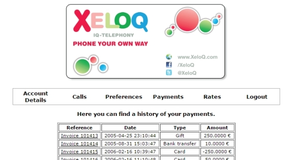 XeloQ Invoice -  Step 1 - choose the right invoice